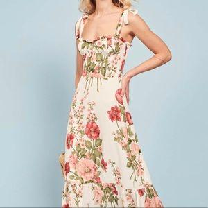 Reformation Floral White Nikita Dress
